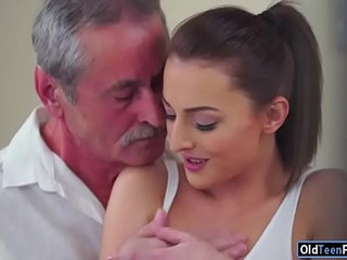 Czech Katy Rose sucks off and old guy before riding his cock | cockczechgayolderriding