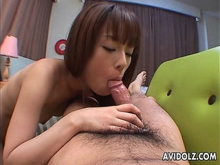 Relentless dick sucking from a skinny and horny Asian chick | asianchickcock suckinghornyskinny