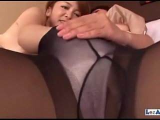Asian Girls In Pantyhose Rubbing Tits Fucking With Doubledildo On The Couch | asiancouchpantyhoserubbingtits