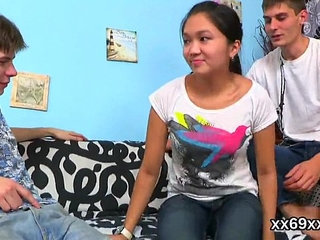 Man assists with hymen physical and drilling of virgin cutie   cutedrillingvirgin