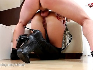 My Dirty Hobby Deepthroat and anal in leather knee high boots | analdeepthroatdirtyleather