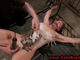 Bonded sub gets toy on pussy from her master | masterpussytoys