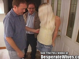 Thin Blonde Wife Pimped Out by Hubby   blondehubby