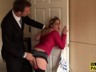 Spanked brit submissive in chokeplay   submissive