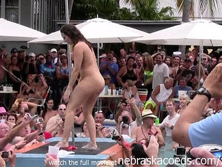 wild milfs stripping down naked in pool hot body strip contest | contestnakedpoolstripteasewild
