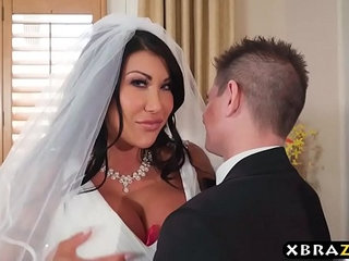 Huge tits bride cheats on her wedding day with the best man | bridehuge tits