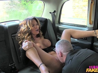 Female Fake Taxi Sexy driver loves a hard cock | cockfemalelovesexytaxi