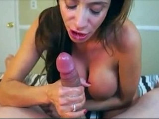 Naughty cougar takes a big cumshot in her mouth | cougarcumshotsmouthnaughty