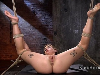 Hogtied blonde babe whipped and flogged | blondewhip